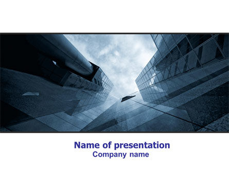 Skyscraper Tops PowerPoint Template, 07261, Business — PoweredTemplate.com