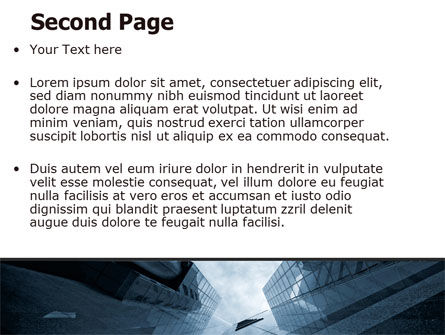 Skyscraper Tops PowerPoint Template Slide 2