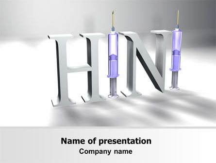 Medical: H1N1 PowerPoint Template #07262