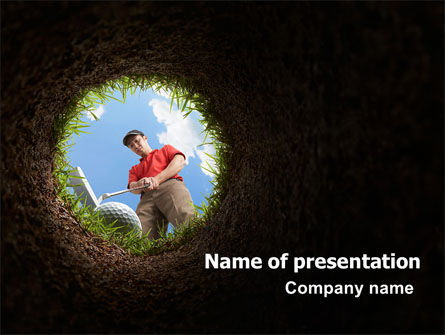 Golf Hit PowerPoint Template, 07263, Sports — PoweredTemplate.com