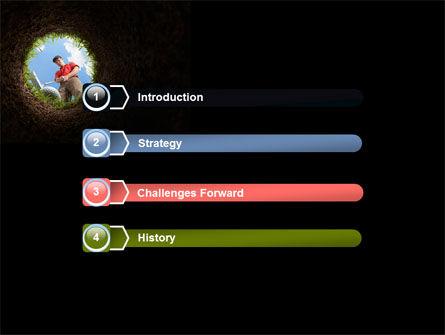 Golf Hit PowerPoint Template Slide 3