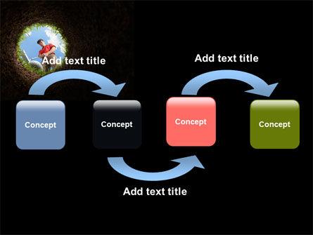 Golf Hit PowerPoint Template Slide 4
