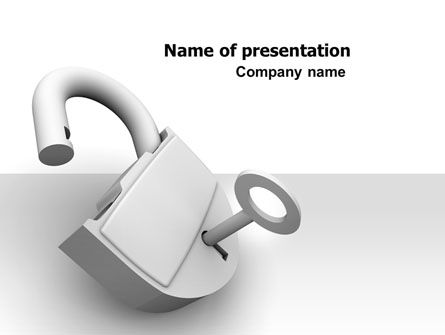 Consulting: Unlocked Padlock PowerPoint Template #07266