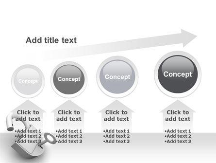 Unlocked Padlock PowerPoint Template Slide 13