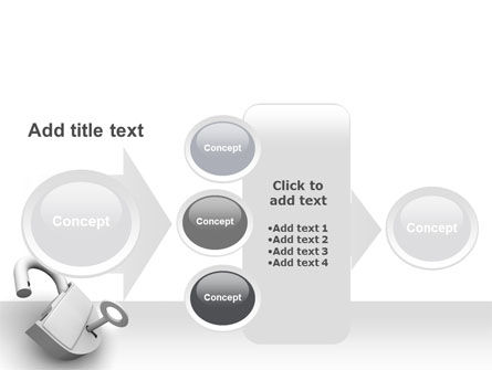 Unlocked Padlock PowerPoint Template Slide 17