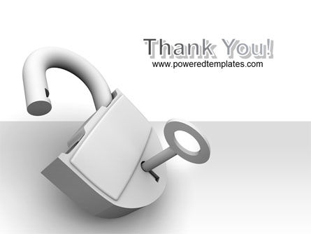 Unlocked Padlock PowerPoint Template Slide 20