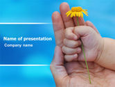 Religious/Spiritual: Little Hand PowerPoint Template #07269