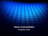 Abstract/Textures: Blue Grid Surface PowerPoint Template #07270