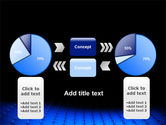 Blue Grid Surface PowerPoint Template#11