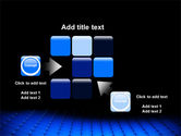 Blue Grid Surface PowerPoint Template#16