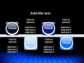 Blue Grid Surface PowerPoint Template#19