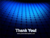 Blue Grid Surface PowerPoint Template#20