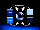 Blue Grid Surface PowerPoint Template#6