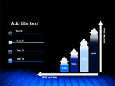 Blue Grid Surface PowerPoint Template#8
