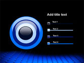 Blue Grid Surface PowerPoint Template#9