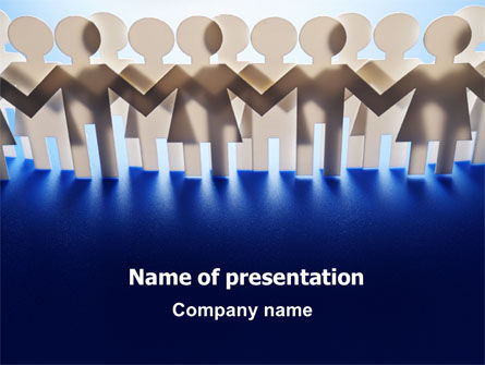 Peoples Unity PowerPoint Template, 07271, Consulting — PoweredTemplate.com
