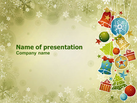 christmas holiday theme powerpoint template, backgrounds | 07273, Modern powerpoint