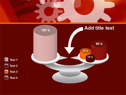 Red Gears PowerPoint Template Slide 10