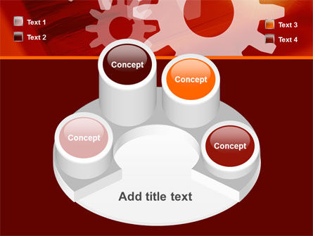 Red Gears PowerPoint Template Slide 12