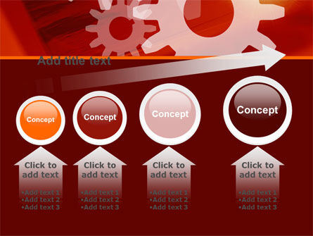 Red Gears PowerPoint Template Slide 13