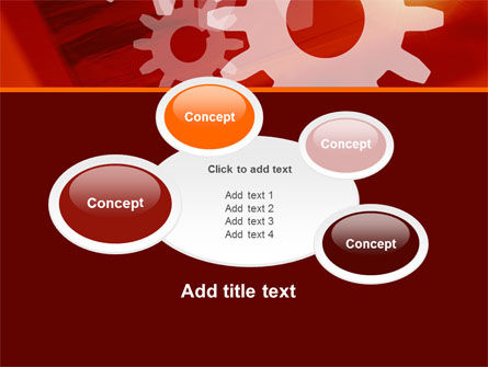 Red Gears PowerPoint Template Slide 16