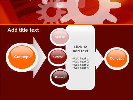 Red Gears PowerPoint Template Slide 17