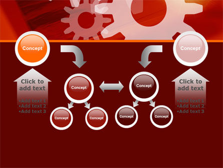 Red Gears PowerPoint Template Slide 19