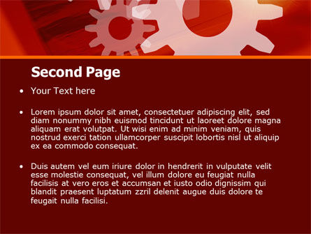 Red Gears PowerPoint Template Slide 2