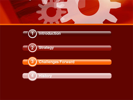 Red Gears PowerPoint Template Slide 3
