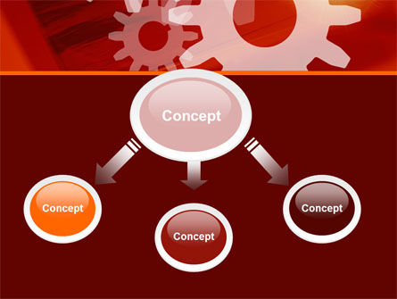 Red Gears PowerPoint Template Slide 4