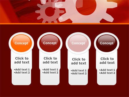 Red Gears PowerPoint Template Slide 5