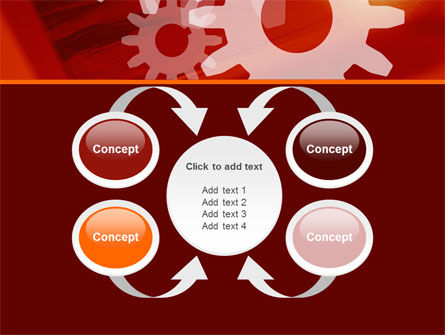 Red Gears PowerPoint Template Slide 6
