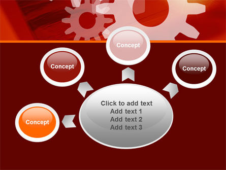 Red Gears PowerPoint Template Slide 7