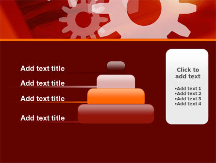 Red Gears PowerPoint Template Slide 8
