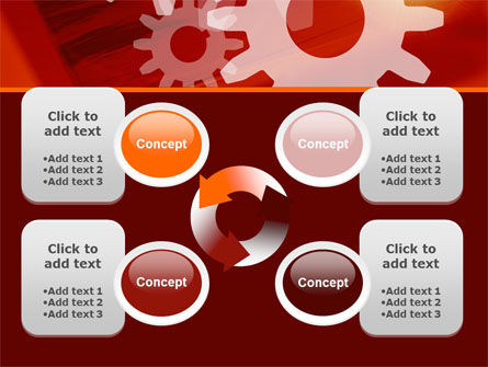 Red Gears PowerPoint Template Slide 9