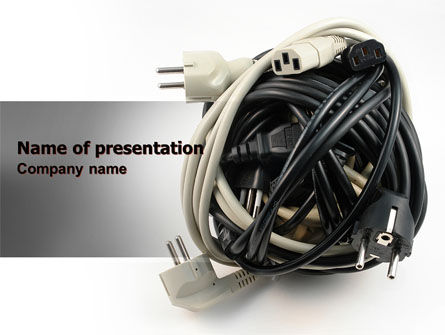 Technology and Science: Cable Knot PowerPoint Template #07277