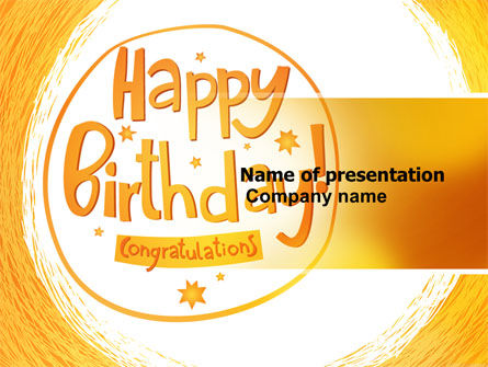 Holiday/Special Occasion: Happy Birthday Card PowerPoint Template #07278