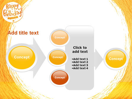 Happy Birthday Card PowerPoint Template Slide 17