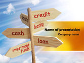 Financial/Accounting: Credits and Loans PowerPoint Template #07279