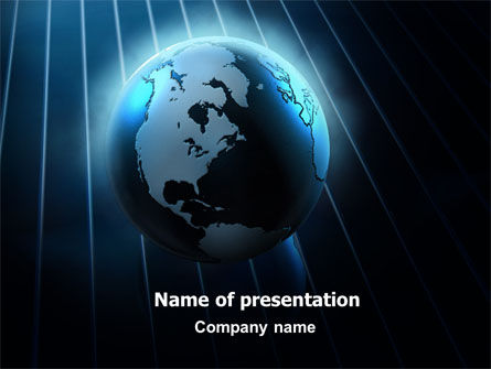 World Spotlight PowerPoint Template, 07280, Global — PoweredTemplate.com