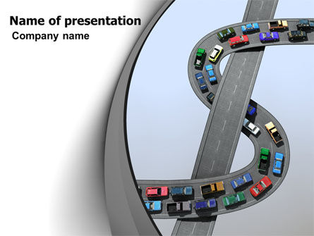 Cars and Transportation: Transportation Of Money PowerPoint Template #07281