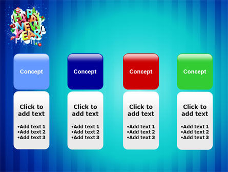 Free New Year Card PowerPoint Template Slide 5