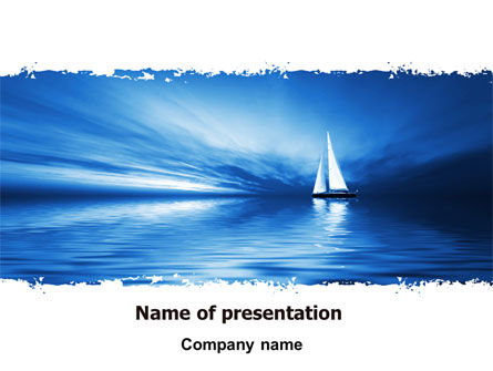 Blue Ocean PowerPoint Template, 07283, Nature & Environment — PoweredTemplate.com