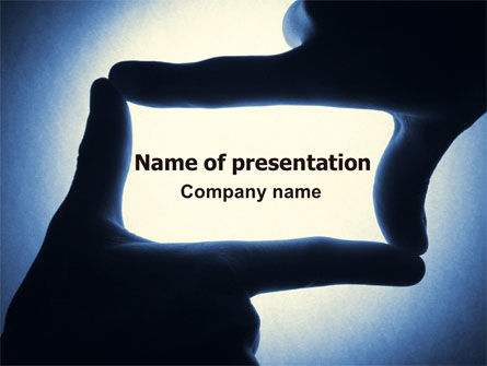 Careers/Industry: Hand Frame PowerPoint Template #07284