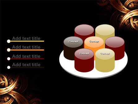 Dark Yellow Curls PowerPoint Template Slide 12