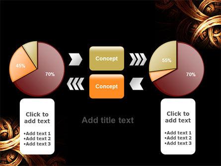 Dark Yellow Curls PowerPoint Template Slide 16