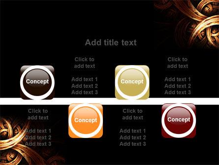 Dark Yellow Curls PowerPoint Template Slide 18