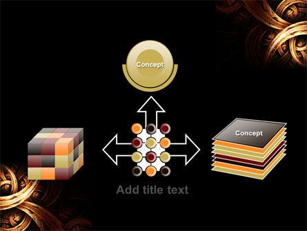 Dark Yellow Curls PowerPoint Template Slide 19