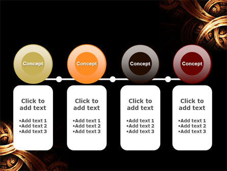 Dark Yellow Curls PowerPoint Template Slide 5