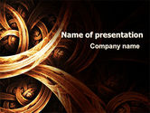 Abstract/Textures: Dark Yellow Curls PowerPoint Template #07285